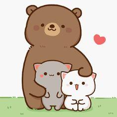 Cute Cartoon Images, Cute Cartoon Drawings, Cute Love Cartoons, Kawaii Drawings, Cute Cartoon Wallpapers, Cute Love Gif, Cute Love Pictures, Cute Cat Gif, Chibi Cat