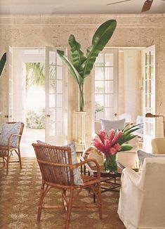 Using palms as room decor by @compai Justina Blakeney