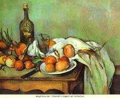 Paul Cézanne. Still Life with Onions. Olga's Gallery.