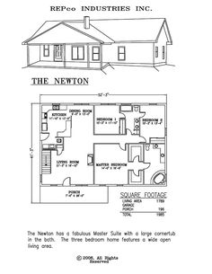 Add garage with mudroom, 3/4 bath and laundry room. Move stairs to the front of house close to kitchen area.