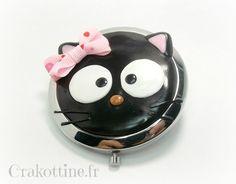 Miroir de sac Black Cat Kawaii
