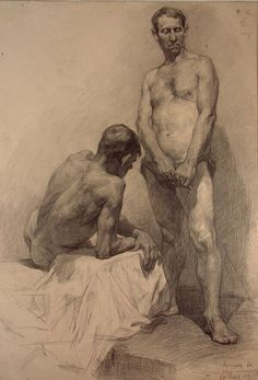 Male figure in academic art
