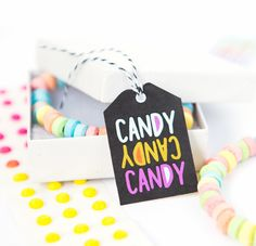 Attach these free printable candy Halloween tags to boxes of your favorite candy for a fun Halloween or birthday party favor!