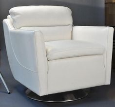 Clio Full top Grain leather Contemporary chair Off White