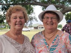 My mother Leigh and a friend at the anniversary of Rolly&Milly