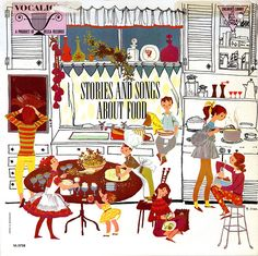 Stories and Songs About Food — Decca Records — vintage album cover Illustrated by Margaret Erath
