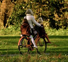 No helmets no kid safety seats, I know, this scares us Americans, but when you live in a country(the Netherlands), that favors bikes over cars, well, accidents are few