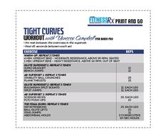 The Tight Curves Workout - A Butt-shaping, Ab-toning, Fat-blasting Plan Turn this into a HIT workout or bootcamp for gluets and abs. Wellness Fitness, Fitness Tips, Fitness Motivation, Health Fitness, Workout Challenge, Workout Log, Workout Ideas, Printable Workouts, Curves Workout