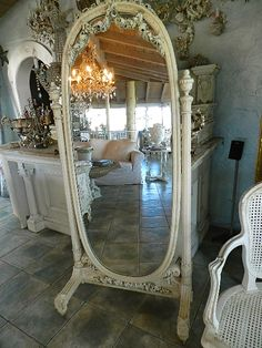 antique cheval mirror. I want this so badly...