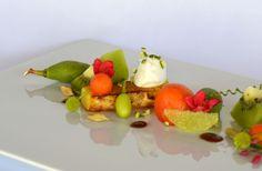 Piña Asada con Frutas en Infusión de Limón y Picante