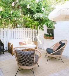 Outdoor Lounge, Outdoor Spaces, Outdoor Living, Outdoor Decor, Patio Lounge Chairs, Metal Patio Chairs, Wicker Lounge Chair, Outdoor Wicker Chairs, Balcony Chairs