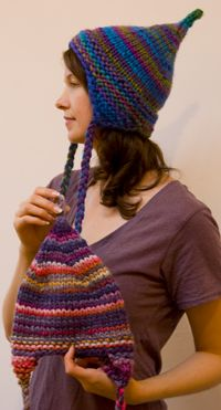 knitculture Elf Hat Pattern (adult and child)