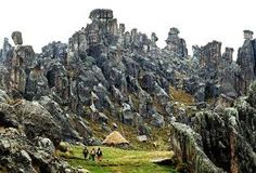 Markawasi stone forest in Peru - A small plateau 12,000 feet in the Andes Mountains.  Many claims have been assoc. with this place.  Paranormal activity, UFO sightings, spontaneous healings, strange inhabitants from tunnels under the mountains, etc.  An unmistakable presence of energy is found and felt here and why it's sometimes called the Sacred Forest.