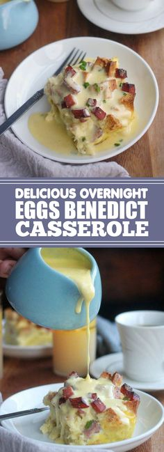 This Overnight eggs benedict casserole is my solution to wanting to serve eggs benedict at brunch but not wanting to be standing over the st. Argula Recipes, Coliflower Recipes, Egg Recipes, Brunch Recipes, Cooking Recipes, Eggs Benedict Casserole, Egg Benedict, Avocado Eggs Benedict, Eggs Benedict Recipe