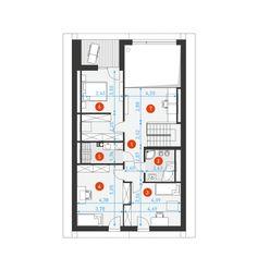 Dostępny 4A - DOMY Z WIZJĄ Home Renovation, Teak, House Plans, Floor Plans, Diagram, How To Plan, Design, Building, Blue Prints