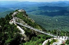 grandfather-mountain- western North Carolina I've been there several times.  Beautiful views!