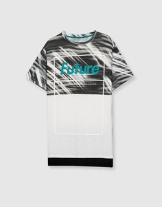 7773f490c6 Pull amp Bear - hombre - hot prices - camiseta print texto -future- -