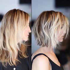 les plus beaux modèles de cheveux courts et mi-longs tendance 2017   Coiffure simple et facile