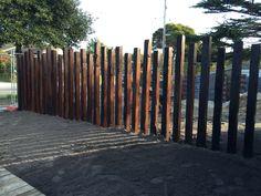 Post fence modern rustic
