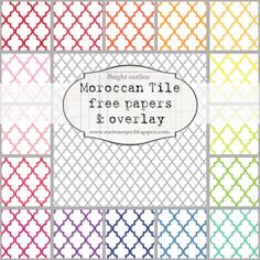 PREVIEW Moroccan tile B SMALL SCALE bright OUTLINE by melstampz, via Flickr