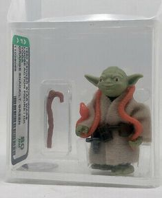 Star Wars 1980 Vintage YODA ORANGE SNAKE//LIGHT GREEN AFA 80 NM