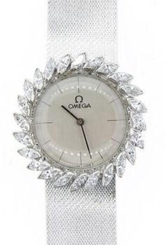Ladies White Gold With Marquise Diamond - love this watch!