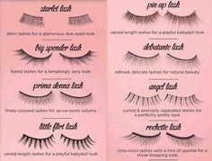 nice breakdown of false eyelashes