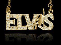 ELVIS JEWELRY: Elvis Presley's Signature Pendant 9 Karat Gold Neckalace