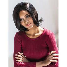 Vogue Medium Side Parting Straight Black Synthetic Hair Wig For Women #>=#>=#>=#>=#> Click on the pin to check out discount price, color, size, shipping, etc. Save and like it!