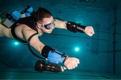The x2 jet pack lets you effortlessly soar underwater like a dolphin!