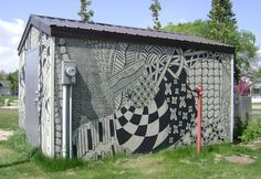 from the blog 'Enthusiastic Artist': Surprise! A local tangled building!