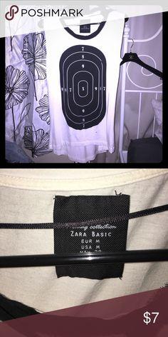 Zara Bullseye Tank Tshirt material. Zara Tops Muscle Tees