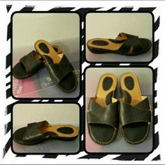 Woman's Black Leather Born Sandals  Like New Woman's Black Leather Sandals By Born Size Is 10 Medium. These Are Very Comfortable And Versatile Can Go With Anything. The Soles Have Minimal Signs Of Wear Since I Barely Wore Them  NO TRADES  NO PayPal  NO LOWBALLING PRICE IS FIRM & FINAL NOW  Born Shoes Sandals