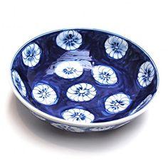 schaal keramiek blauw