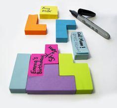 Tetris Style Sticky Notes