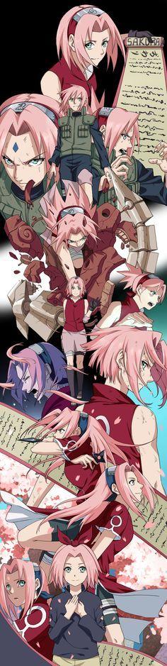 Sakura: Al principio la aborrecía -quién no-, pero después, mucho después, -en Road of Ninja, para ser exactos- comenzó a caerme bien, al punto de quererla mucho.
