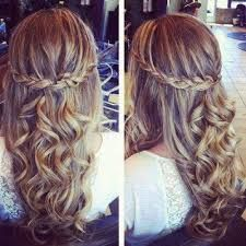 waterfall braid curly hair front view - Google Search