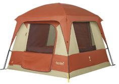 The Eureka Copper Canyon 4 is a spacious and sturdy cabin-style tent. This recreational camping tent allows the whole gang to hang out, stretch out and sleep well. Hiking Tent, Backpacking Tent, Tent Camping, Camping Gear, Camping Cabins, Camping Hacks, Camping Essentials, Glamping, Camping List
