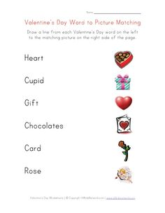 Valentine's Day Worksheets for Kids