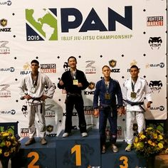 Chris Tran receives his Gold medal at the 2015 Pan. Purple Belt Galo champion. 8 weeks ago he told me he was going to skip the Pan to do the NY Open. Good thing he changed his mind. #ibjjf #brazilianjiujitsu #purplebelt #collegepark #shapiroandmack