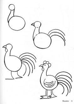 comment dessiner un  coq