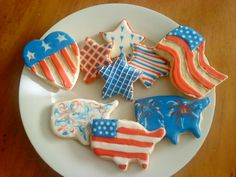 4th of July cookies and royal icing recipe | Home Sweet Nothings