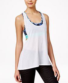 Material Girl Active Juniors' Layered-Look Tank Top, Only at Macy's