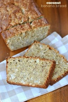 add some chico chips for a sweet morning snack :) Coconut Banana Bread.turn your traditional banana bread into something incredible with macadamia nuts and coconut! Coconut Banana Bread, Moist Banana Bread, Coconut Milk, Coconut Recipes, Banana Bread Recipes, Delicious Desserts, Dessert Recipes, Yummy Food, Shugary Sweets
