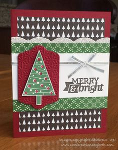 Festival of Trees, Stampin Up, Card Creations by Beth