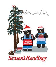 Designed to Read, Know, Think, Grow Long Winter, Lake Tahoe, Big Eyes, Happy Holidays, Good Books, Bears, Santa, Seasons, Christmas Ornaments
