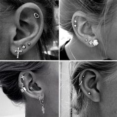 Here are Most Beautiful Ear Piercing Ideas to Copy. Hope you liked these Piercing Ideas provided in this list. Helix Piercings, Spiderbite Piercings, Faux Piercing, Ear Peircings, Piercing Tattoo, Unique Piercings, Upper Ear Piercing, Bar Stud Earrings, Cartilage Earrings