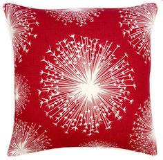 red & white pillow