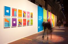 Windows 8, by Paula Scher,  launched at Microtropolis, a special public exhibition designed by Mother New York at Pier 57 in New York.