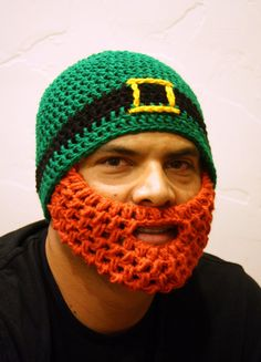 Adult Irish Beard Beanie by HolyNoggins on Etsy, $35.00